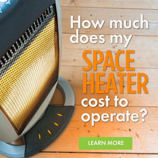 how much does my space heater cost to run